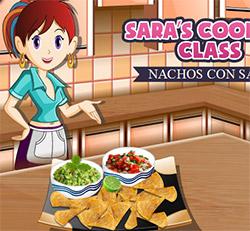 Nachos e salsa dip